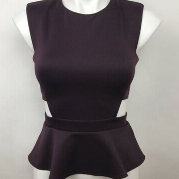 Marciano cut out peplum top